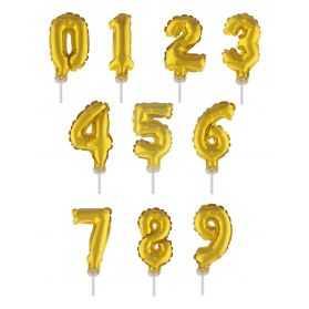 décoration dorée pour gateau anniversaire