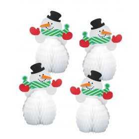 bonhommes de neige en papier