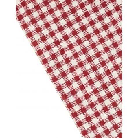 Chemin de table vichy Rouge esprit Brasserie parisienne