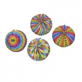 Lampion papier multicolore