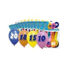 Ballons d'anniversaire avec Chiffre 18