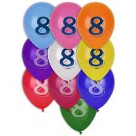 Ballons chiffre 5 biodégradables