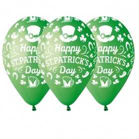 100 Ballons verts à thème Saint-Patrick