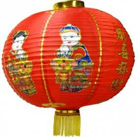 Lanterne Chinoise Rouge Bonne Chance