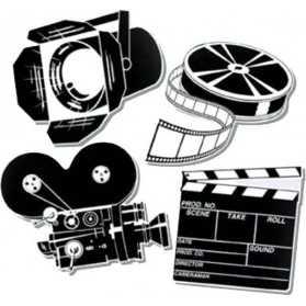4 Décorations Cinéma