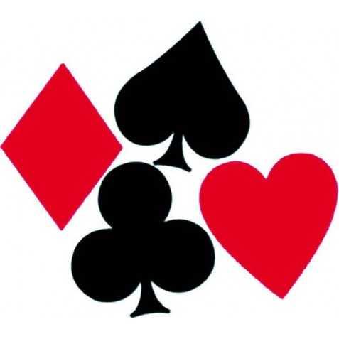 4 décors Géants Couleur Poker