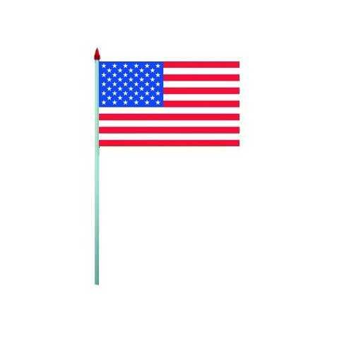 10 drapeaux USA à agiter