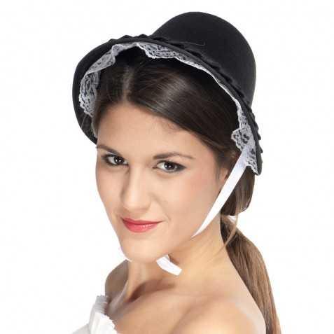 Chapeau en feutrine avec dentelle Mayflower
