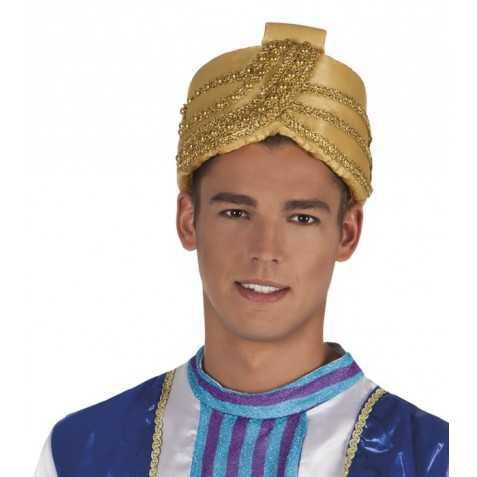 Turban de Sultan en satin doré