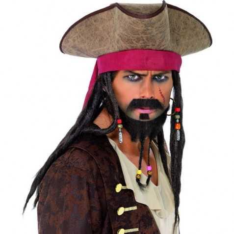 Chapeau déguisement pirate caraibes
