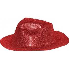 Serre-tête mini Chapeau Cabaret à paillettes et plume