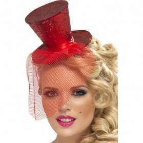 Chapeau rouge femme pour soirée cabaret