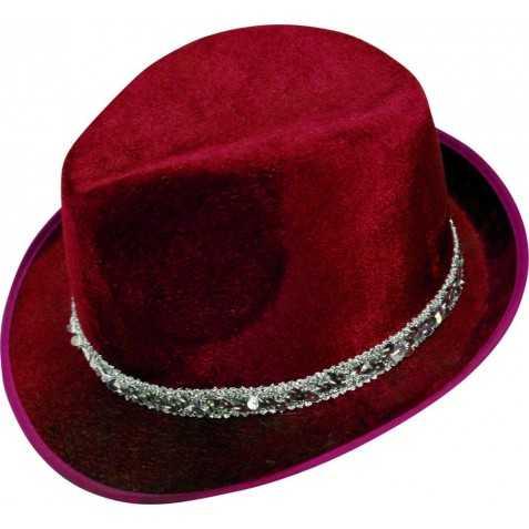 Borsalino en velours Rouge