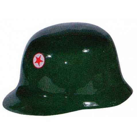Casque de GI vert avec étoile rouge