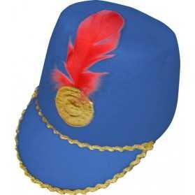 Chapeau de Majorette en feutrine Bleu