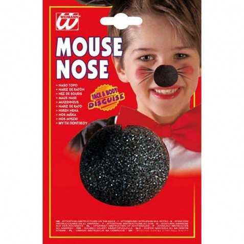 Nez de Clown couleur noir en mousse enfant