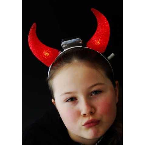 cornes de diable rouges lumineuses enfant