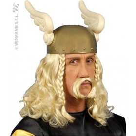 Perruque et moustache blondes petit Gaulois futé