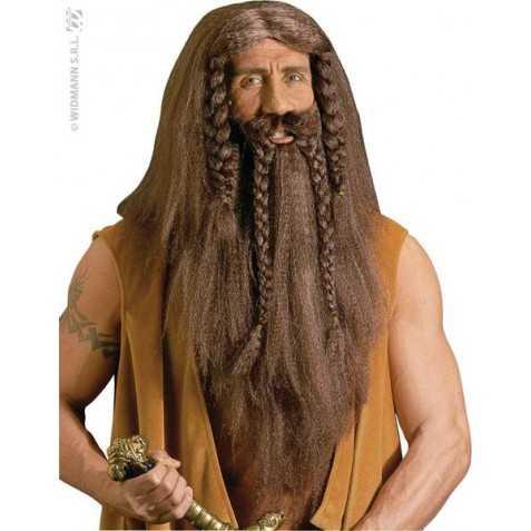 Perruque Barbare aux cheveux très longs