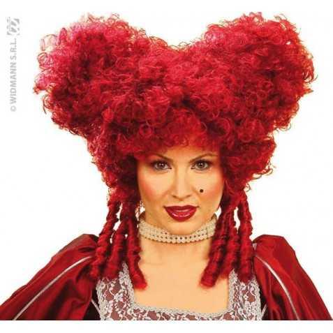 Perruque de Comtesse avec cheveux couleur Bordeaux