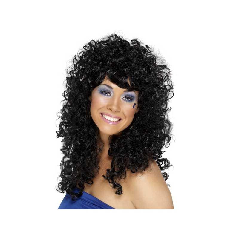perruque femme brune avec longs cheveux boucl s. Black Bedroom Furniture Sets. Home Design Ideas