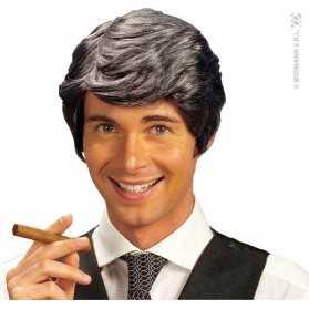 Perruque d'Acteur de séries télé aux cheveux gris