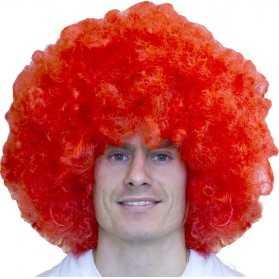 Perruque Gros volume cheveux Rouges avec coupe Afro