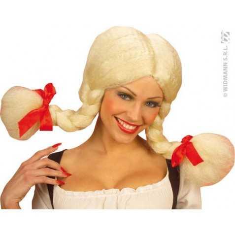 Perruque Heidi Blonde avec 2 tresses modulables