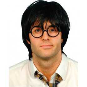 Perruque Ecolier avec lunettes style Harry