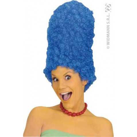 Perruque de cheveux bleus style Marge Simpson