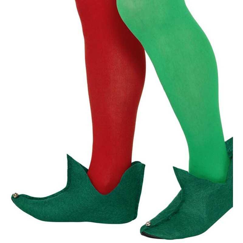 Funidelia Lutin Chaussures Lutin Officielle pour Femme et Homme ▶ Elfe de No/ël Vertes No/ël Accessoire pour d/éguisement