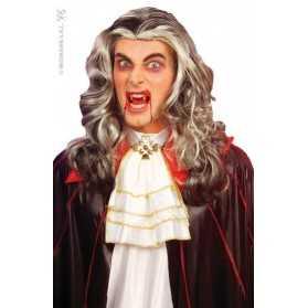 Perruque de Vampire aux cheveux gris et londs