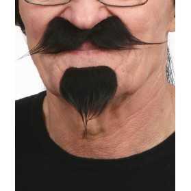 Moustaches noires de Dandy avec bouc