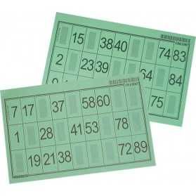 100 cartons LOTO feuille Vert