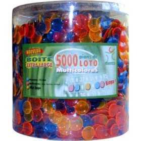 Boite de 5000 pions multicolores