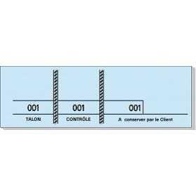 Carnet de 100 tickets Bleu avec 3 souches