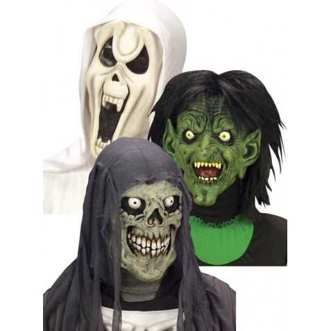 Masque enfant de monstre avec cagoule - Le jeux de la sorciere qui fait peur ...