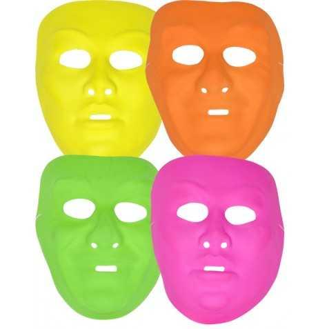 12 Masques Fluos Opéra Adulte