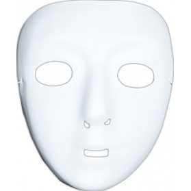Masque Blanc à décorer 1er prix