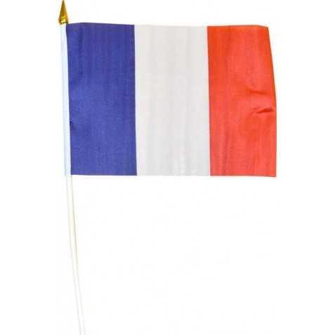 Drapeau français sur hampe
