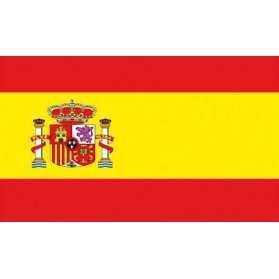 Drapeau Espagne avec oeillets