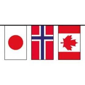 Grande Guirlande avec drapeaux du Monde Entier