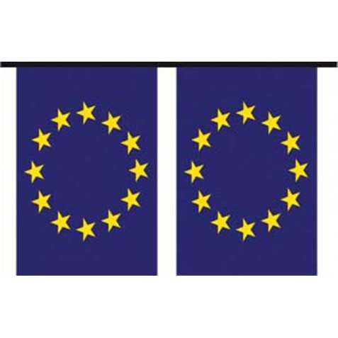 Guirlande de déco de fête aux couleurs de l'Europe