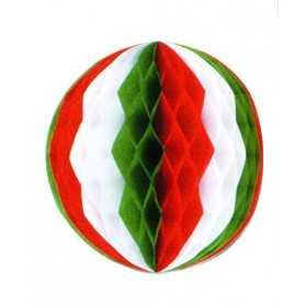 Boule alvéolée déco de fête italienne