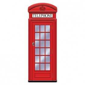 Décor de Cabine téléphonique anglaise rouge