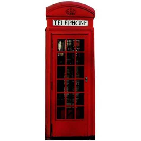 Décor géant de Cabine téléphonique anglaise rouge