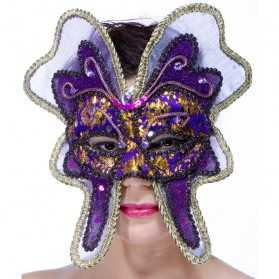 Loup en forme de Papillon à thème Carnaval de Venise