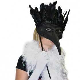 Loup noir pour soirée masquée à thème Carnaval de Venise