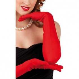 Gants longs de couleur Rouge pour Diner chic
