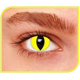Lentilles pour avoir des yeux de Chat jaunes